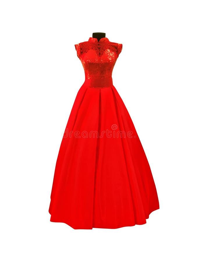 Rewolucjonistki suknia z koronkami i broderią odizolowywającymi zdjęcia royalty free