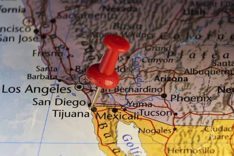 Rewolucjonistki szpilka na Meksyk usa granicie ilustracja wektor