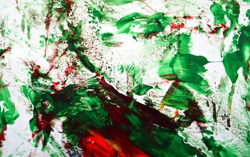 Rewolucjonistki zieleni srebra obrazu akwareli błękitny biały zamazany tło, abstrakcjonistyczny obraz akwareli tło zdjęcie royalty free
