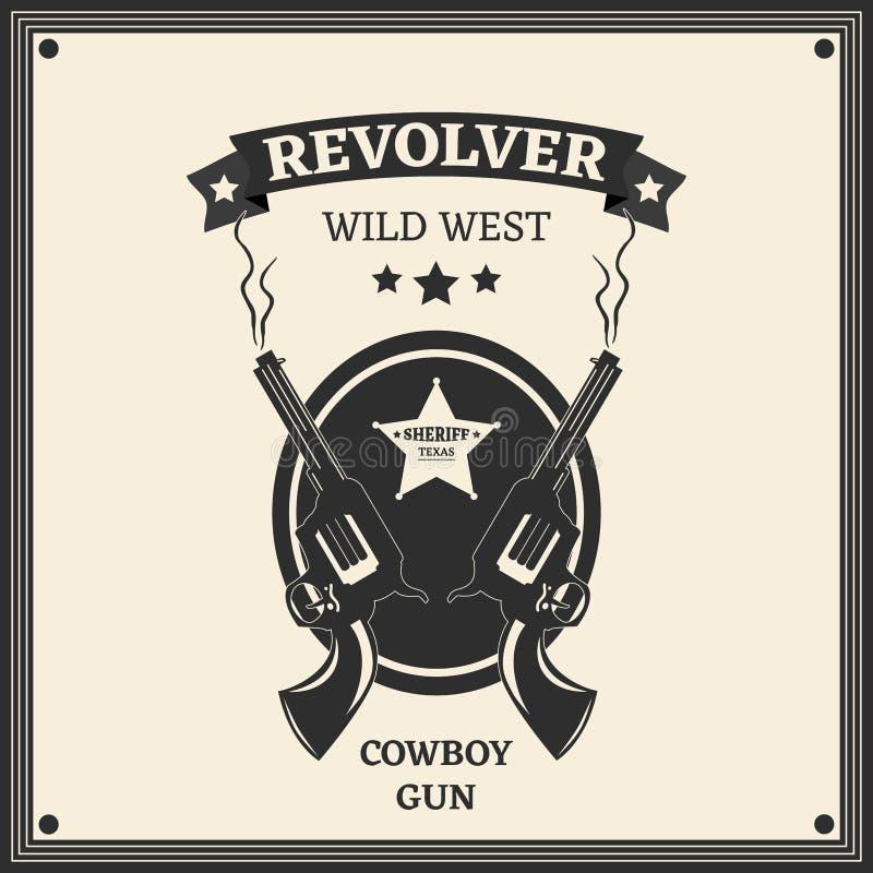 Rewolwerowy logo zdjęcia stock
