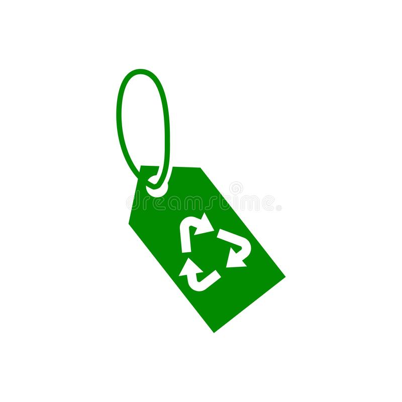Rework tag green icon. Element of nature protection icon for mobile concept and web apps. Isolated rework tag icon can be used for. Web and mobile on white vector illustration