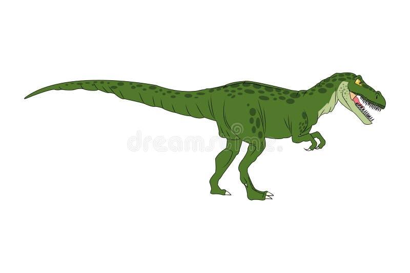 Rex cómico del tiranosaur de la historieta del dinosaurio libre illustration