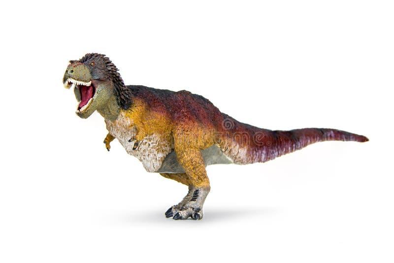 Rex del tiranosaurio del dinosaurio emplumado cubierto foto de archivo libre de regalías
