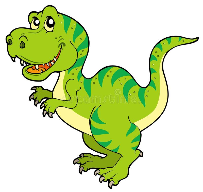 Rex do tyrannosaurus dos desenhos animados