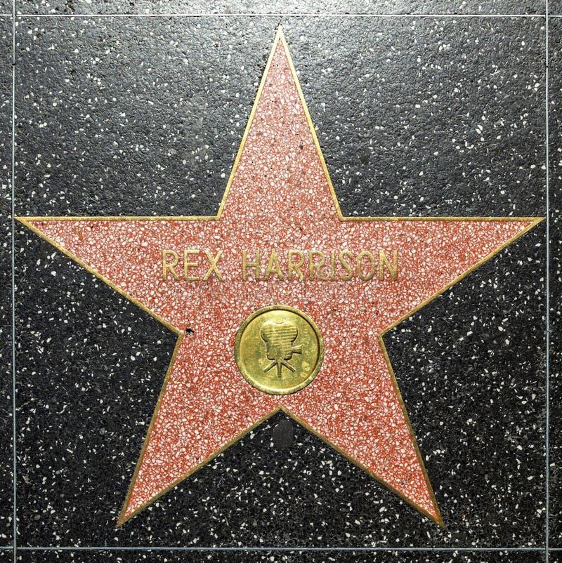 Rex Harrisons-ster op Hollywood-Gang van Bekendheid royalty-vrije stock foto's