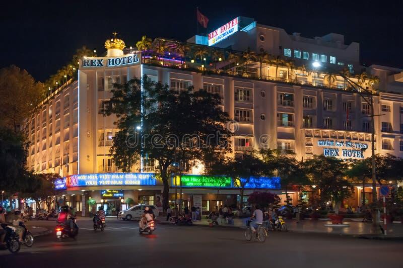 Rex Hotel légendaire dans Saigon photographie stock libre de droits