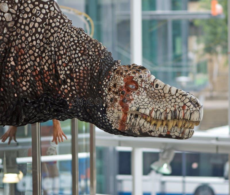 rex t динозавра стоковые фото