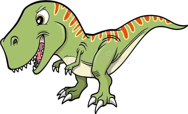 rex t динозавра иллюстрация вектора