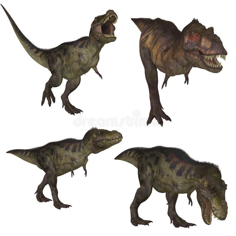 rex tyrannosaurus royalty ilustracja
