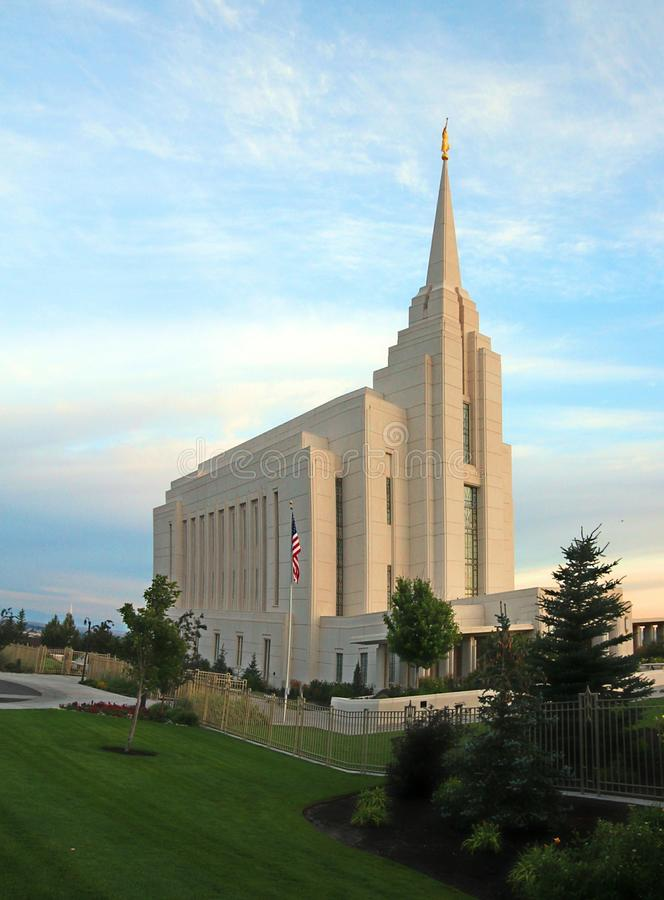 Rexburg, ID LDS Temple Mormon royalty free stock images