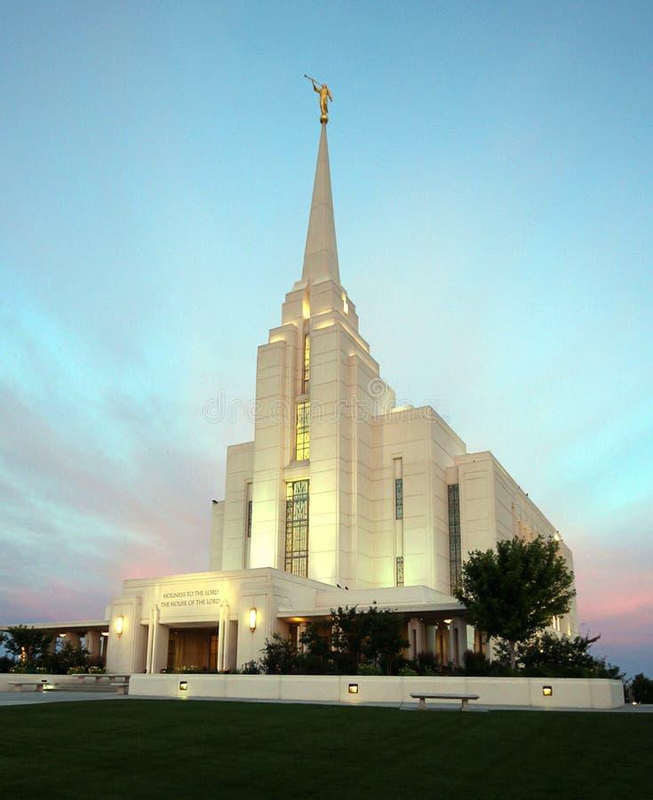 Rexburg, ID LDS Temple Mormon royalty free stock photography
