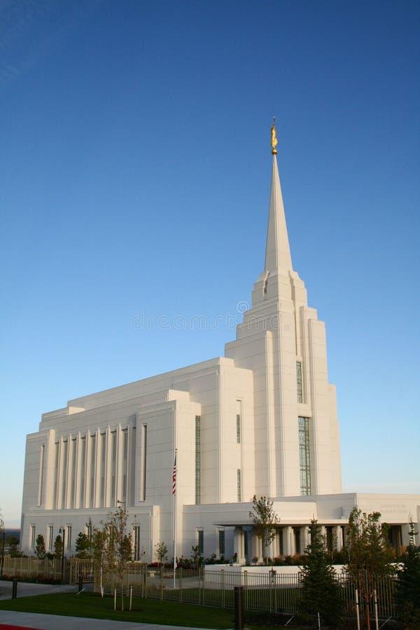 Rexburg LDS Tempel lizenzfreie stockfotos