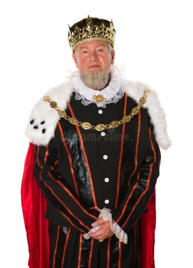 Rey aislado foto de archivo