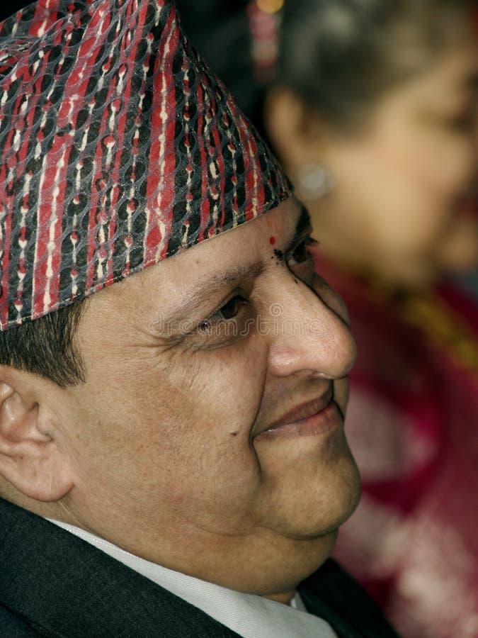 Rey anterior Gyanendra Shah imagen de archivo libre de regalías