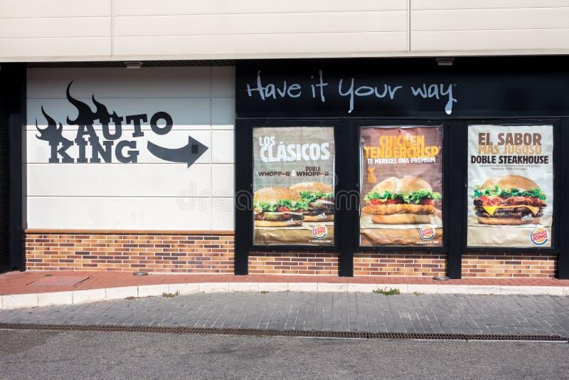 Rey auto del restaurante de Burger King foto de archivo libre de regalías