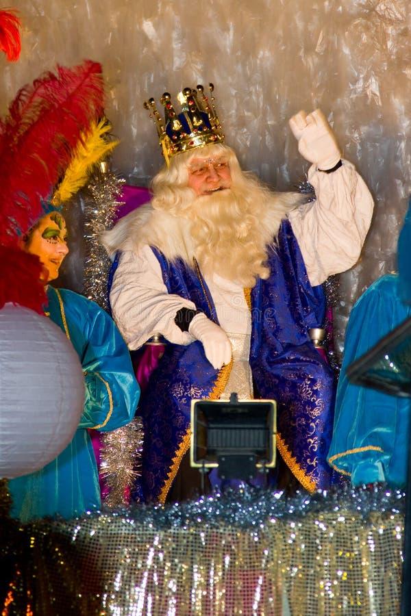 Rey bíblico de unos de los reyes magos foto de archivo