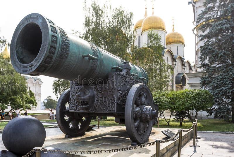 Rey Cannon (zar Pushka) en Moscú el Kremlin foto de archivo
