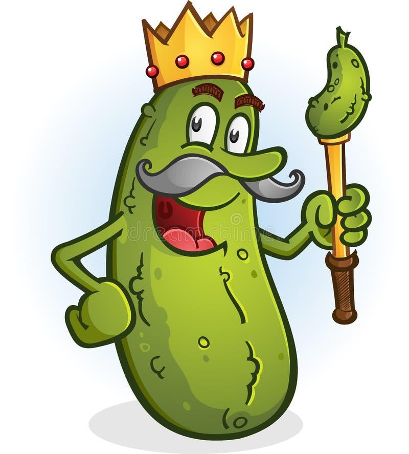 Rey Cartoon Character de la salmuera ilustración del vector