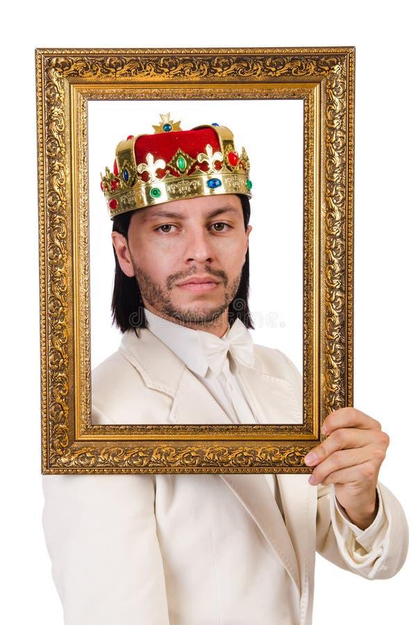 Rey con el marco imagenes de archivo
