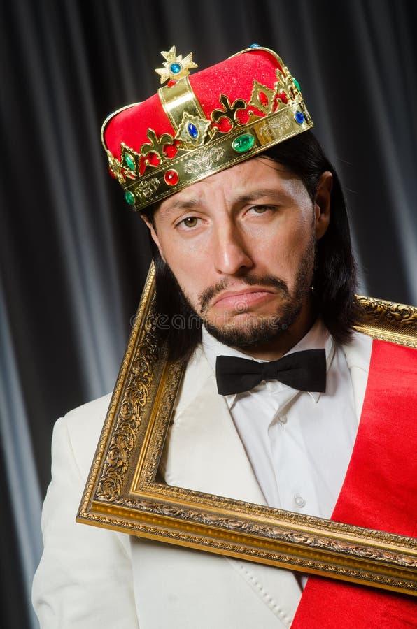 Rey con el marco foto de archivo