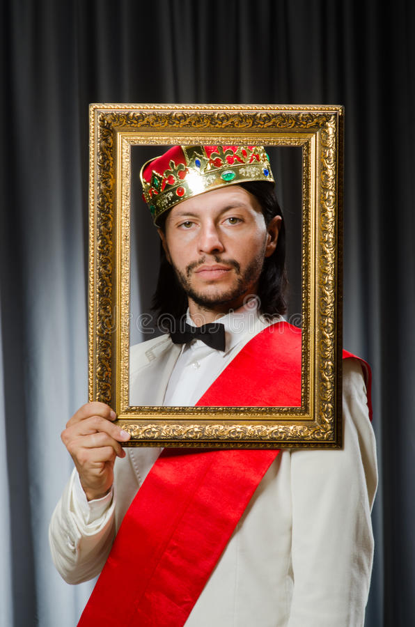 Rey con el marco fotos de archivo libres de regalías