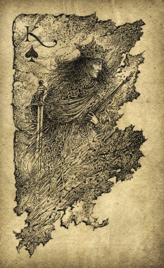 Rey de espadas ilustración del vector