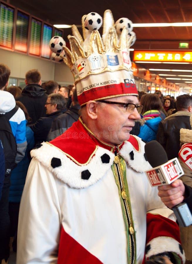 Rey de fans polacas fotografía de archivo libre de regalías