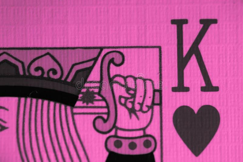 Rey de la macro de los corazones, tarjetas de la adivinación Ritual místico de la tarjeta, imagenes de archivo