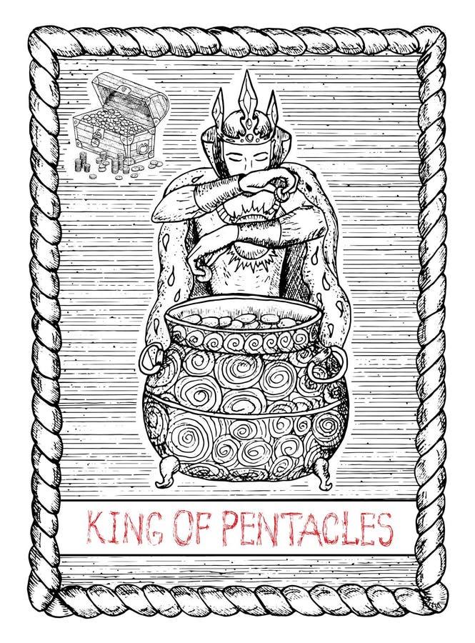 Rey de pentáculos La carta de tarot libre illustration