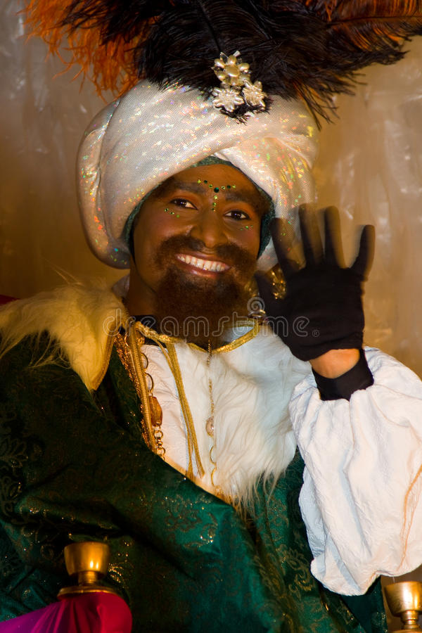 Rey de unos de los reyes magos de Baltasar foto de archivo libre de regalías