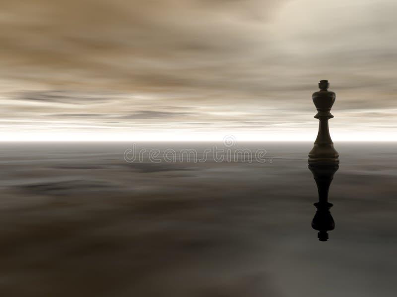 Rey del ajedrez ilustración del vector