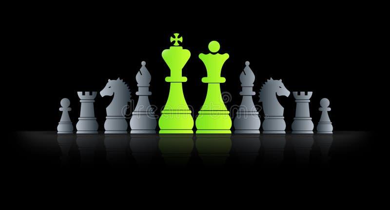 Rey del ajedrez stock de ilustración