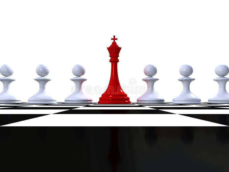 Rey del ajedrez con los empeños en superficie esférica del inspector libre illustration