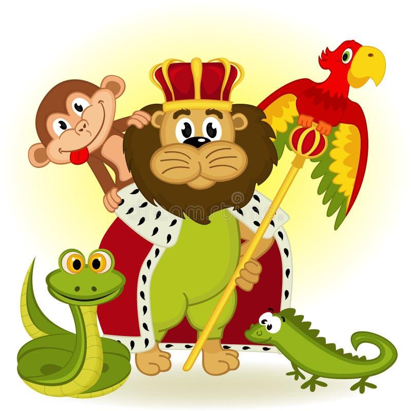 Rey del león del animal ilustración del vector