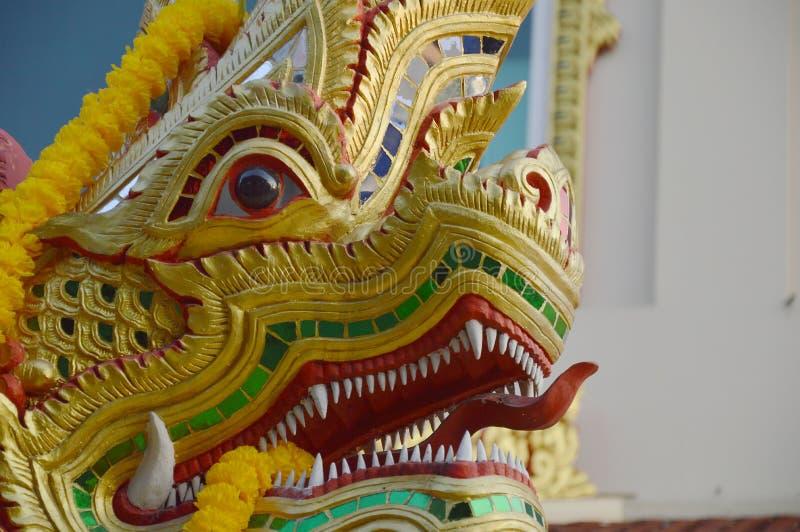 Rey del Naga en el templo foto de archivo libre de regalías