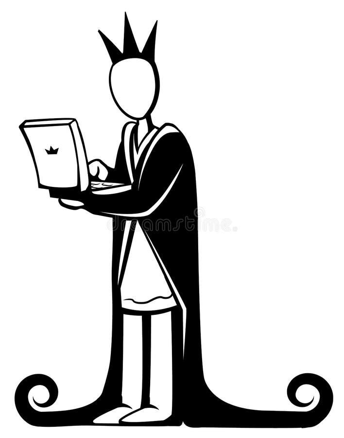 Rey del ordenador stock de ilustración