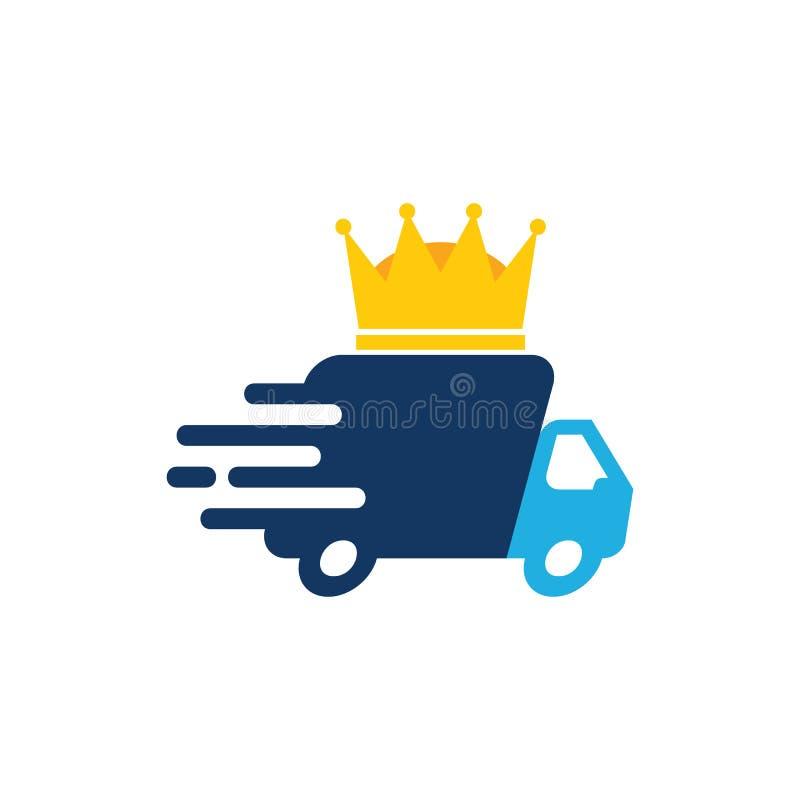 Rey Delivery Logo Icon Design ilustración del vector