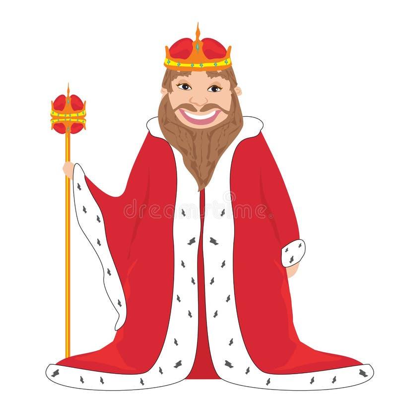 Rey - dibujo aislado stock de ilustración