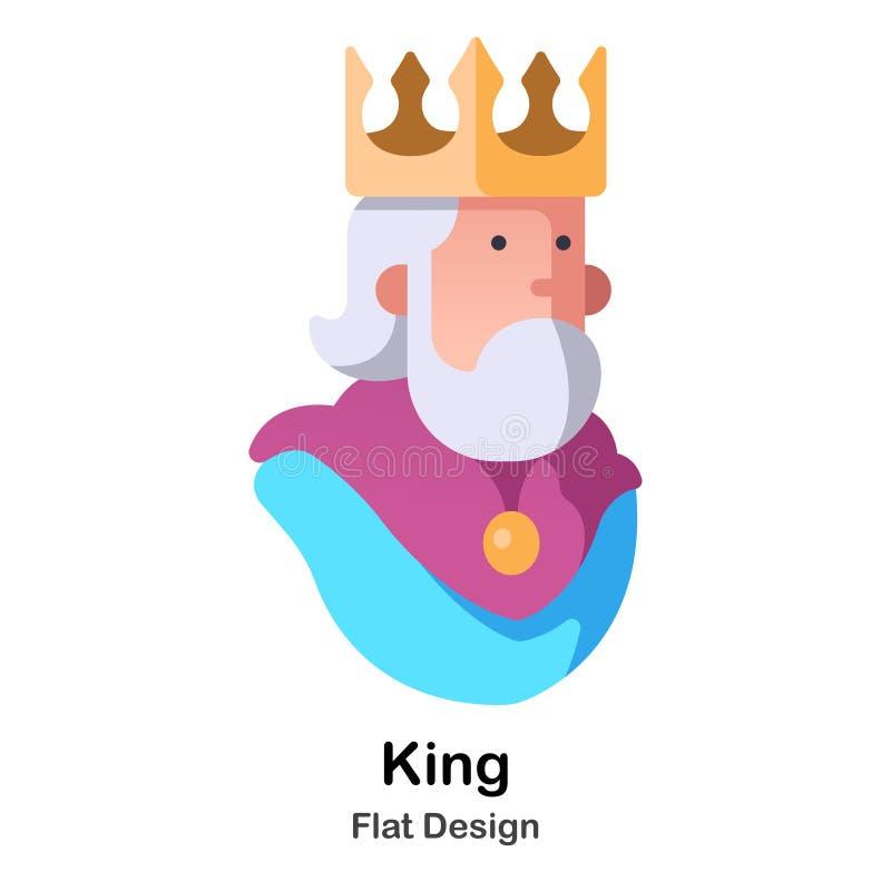 Rey Flat Icon libre illustration