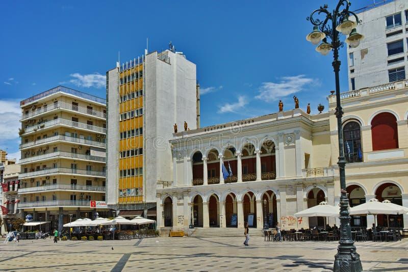 Rey George I Square en Patras, Peloponeso fotografía de archivo libre de regalías