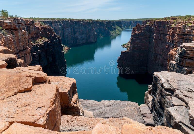 Rey George River Gorge del top de rey George Falls, costa de Kimberley, Australia fotos de archivo libres de regalías