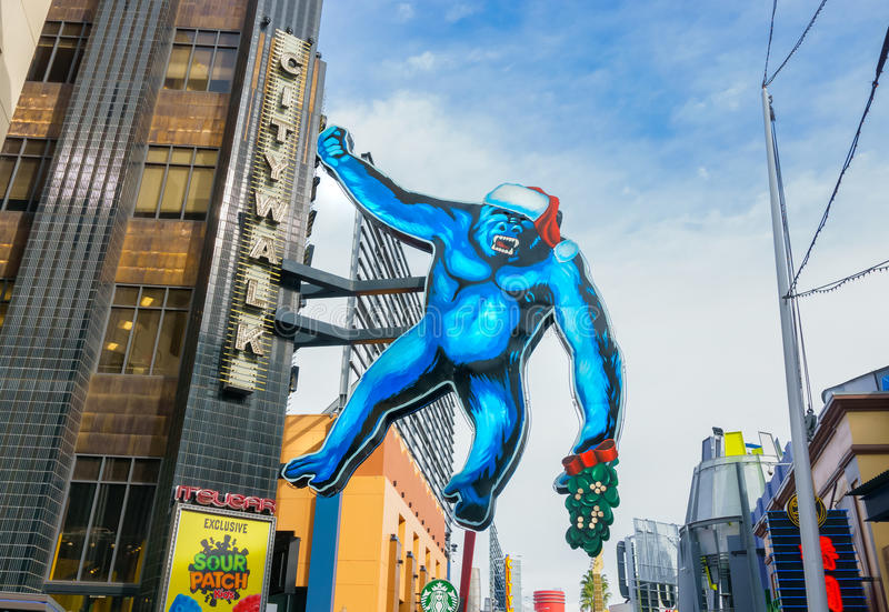 Rey Kong en CityWalk universal imágenes de archivo libres de regalías