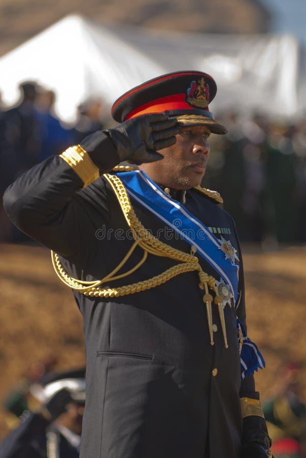 Rey Letsie de H.R.H de Lesotho fotos de archivo libres de regalías