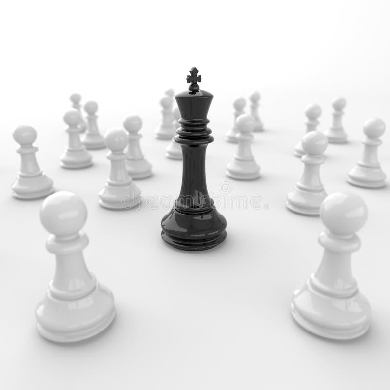Rey negro del ajedrez ilustración del vector