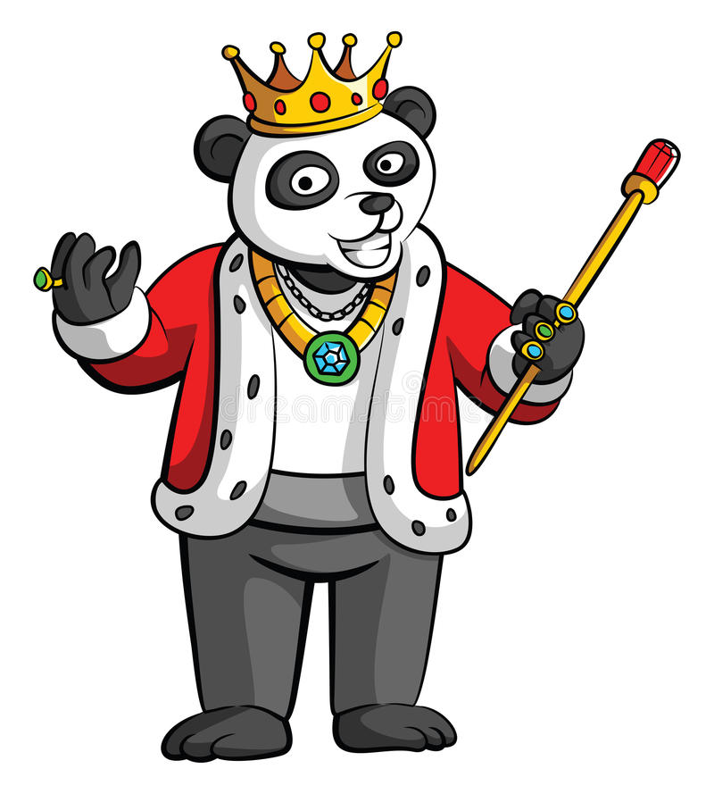 Rey Panda ilustración del vector