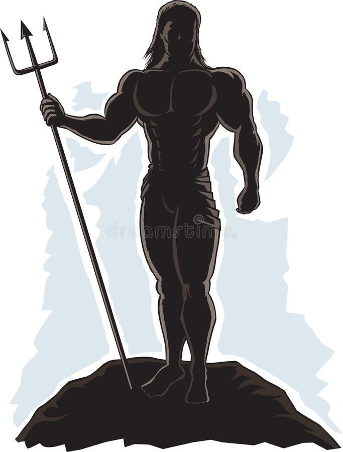 Rey resumido Neptune ilustración del vector