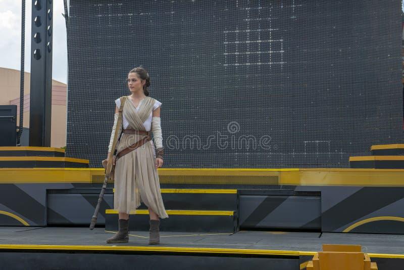 Rey, Star Wars, Disney World, podróż obraz stock