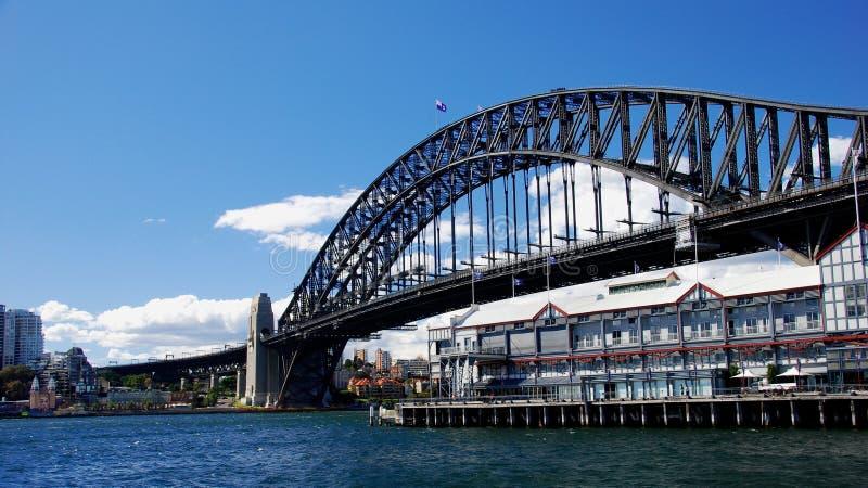 Rey Street Wharf del puente de puerto de Sydney fotografía de archivo