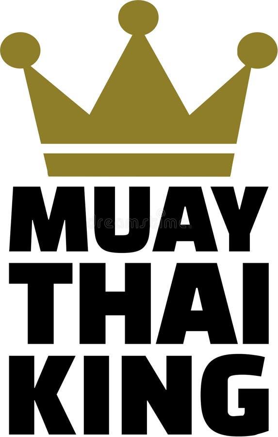 Rey tailandés de Muay con la corona stock de ilustración