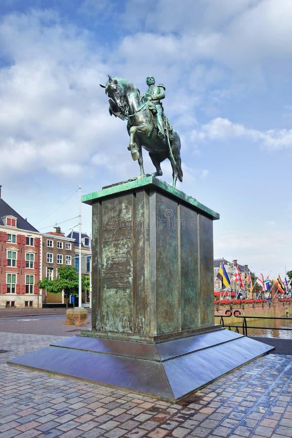 Rey William de la estatua II de los Países Bajos, La Haya fotos de archivo libres de regalías